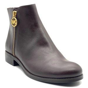 MICHAEL KORS Jaycie Flat Polished Leather Bootie